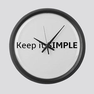 Keep it SIMPLE Large Wall Clock