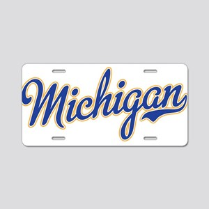 Michigan Script Font Aluminum License Plate