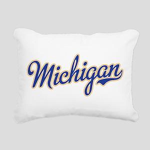Michigan Script Font Rectangular Canvas Pillow