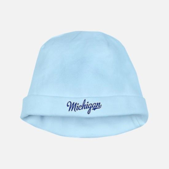Michigan Script Font baby hat