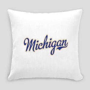 Michigan Script Font Everyday Pillow