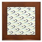 Milkfish Pattern Framed Tile