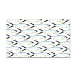 Milkfish Pattern Rectangle Car Magnet