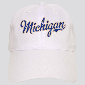 Michigan Script Font Vintage Baseball Cap