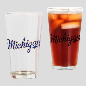 Michigan Script Font Vintage Drinking Glass