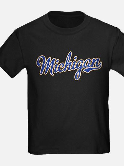 Michigan Script Font Vintage T-Shirt