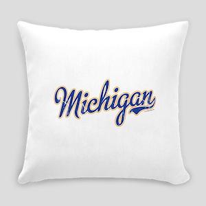 Michigan Script Font Vintage Everyday Pillow