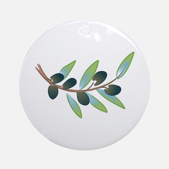 OLIVE BRANCH Round Ornament