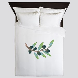 OLIVE BRANCH Queen Duvet