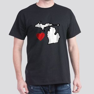 I Love Michigan Dark T-Shirt