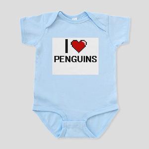 I Love Penguins Digital Design Body Suit