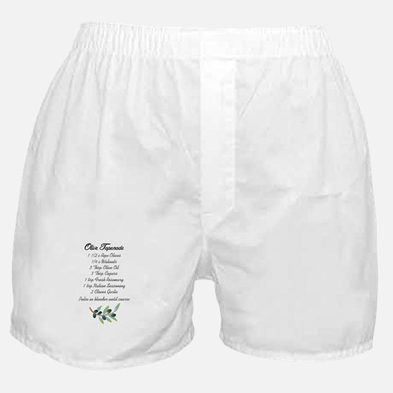 OLIVE TAPENADE RECIPE Boxer Shorts
