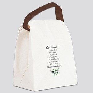 OLIVE TAPENADE RECIPE Canvas Lunch Bag