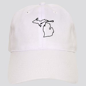 Michigan State Outline Cap