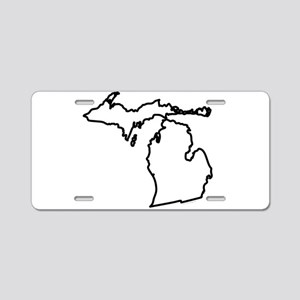 Michigan State Outline Aluminum License Plate