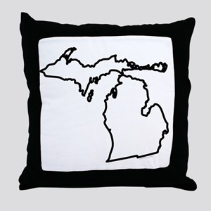 Michigan State Outline Throw Pillow