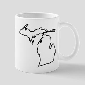 Michigan State Outline Mug