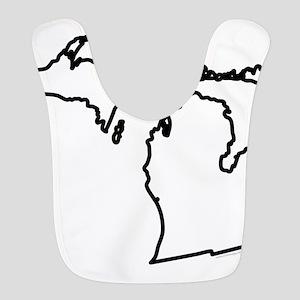 Michigan State Outline Bib