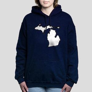 Michigan State Outline Women's Hooded Sweatshirt
