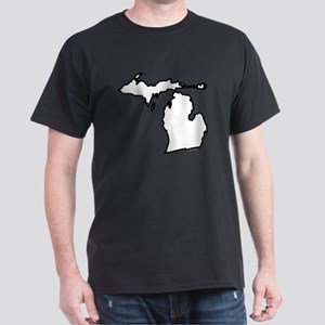 Michigan State Outline Dark T-Shirt