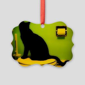 Toilet Cat Picture Ornament