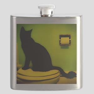 Toilet Cat Flask