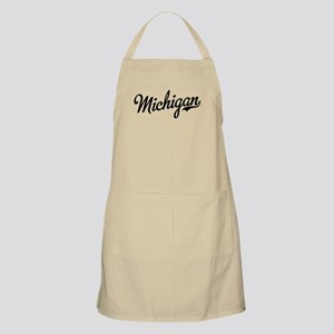Michigan Script Black Apron