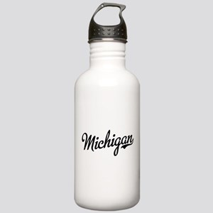 Michigan Script Black Stainless Water Bottle 1.0L
