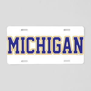 Michigan Jersey Blue Aluminum License Plate