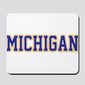 Michigan Jersey Blue Mousepad