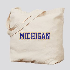 Michigan Jersey Blue Tote Bag