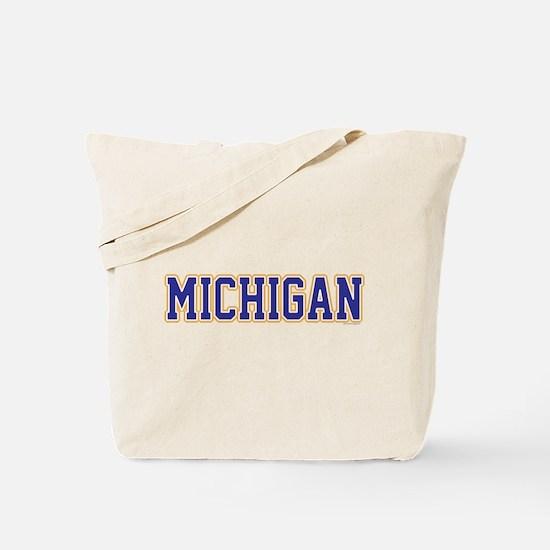 Michigan Jersey Blue Tote Bag