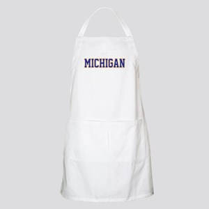 Michigan Jersey Blue Apron