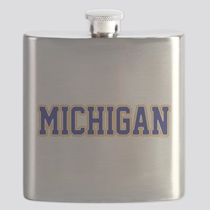 Michigan Jersey Blue Flask