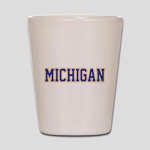 Michigan Jersey Blue Shot Glass