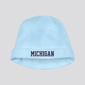 Michigan Jersey Blue baby hat
