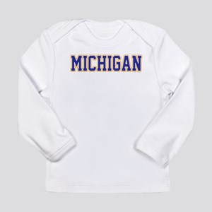 Michigan Jersey Blue Long Sleeve Infant T-Shirt