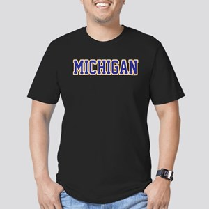 Michigan Jersey Blue Men's Fitted T-Shirt (dark)