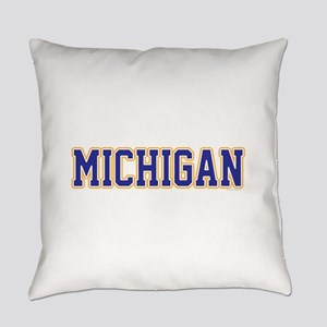 Michigan Jersey Blue Everyday Pillow
