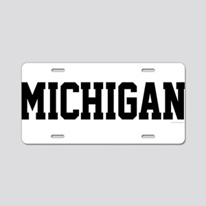 Michigan Jersey Black Aluminum License Plate