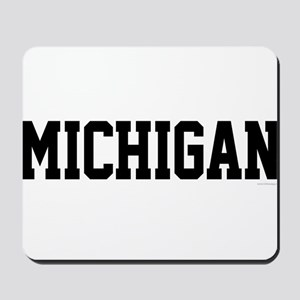 Michigan Jersey Black Mousepad