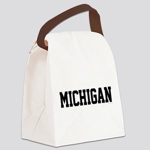 Michigan Jersey Black Canvas Lunch Bag