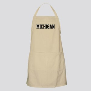 Michigan Jersey Black Apron