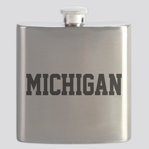 Michigan Jersey Black Flask