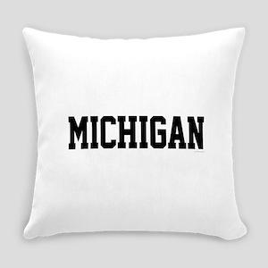 Michigan Jersey Black Everyday Pillow