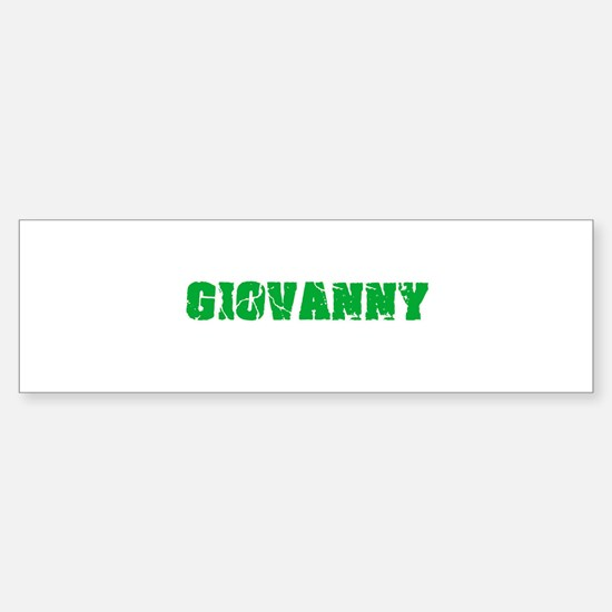 Giovanny Name Weathered Green Desig Bumper Bumper Bumper Sticker