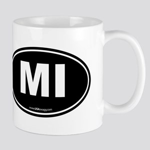 Michigan MI Euro Oval Mug