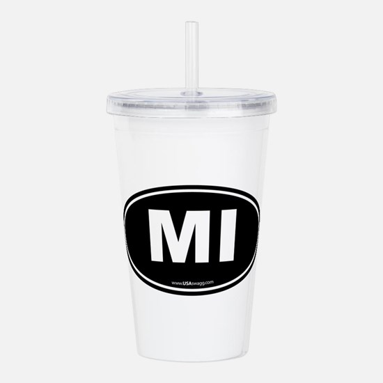 Michigan MI Euro Oval Acrylic Double-wall Tumbler