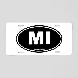 Michigan MI Euro Oval Aluminum License Plate