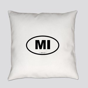 Michigan MI Euro Oval Everyday Pillow